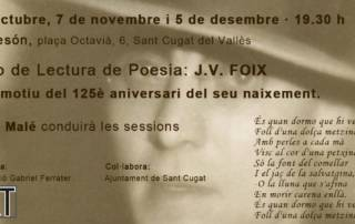 Grup de lectura de poesía: J.V. Foix - 5/11/18