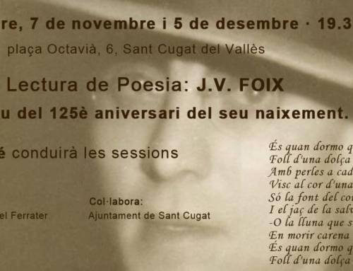 Grup de lectura de poesia – J.V. Foix