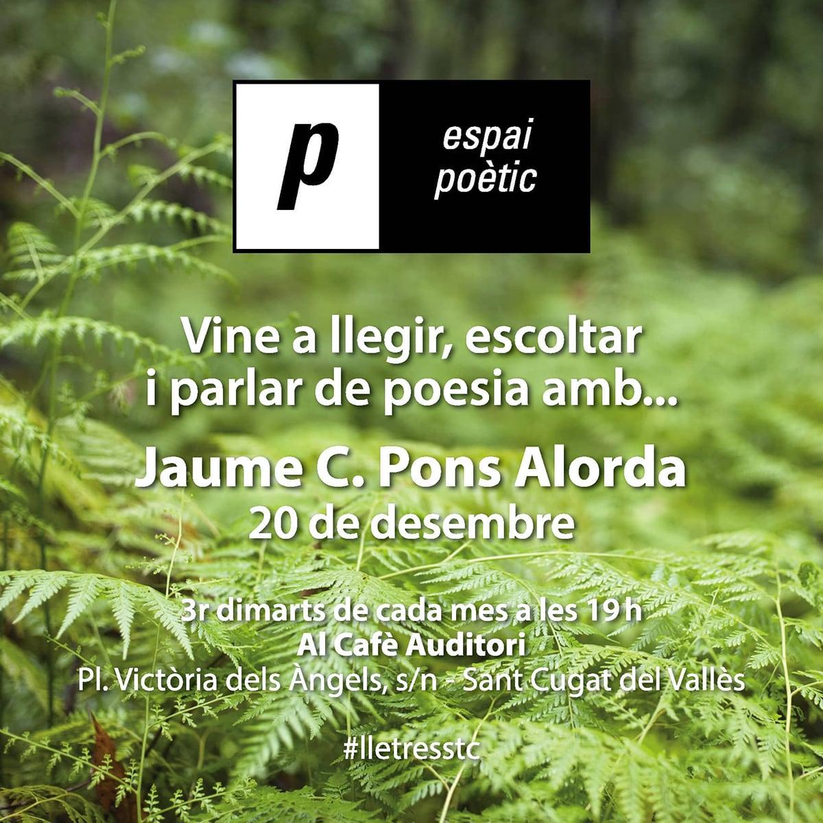 Espai poètic: Jaume C. Pons Alorda