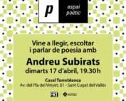 Espai poètic: Andreu Subirats