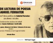 Grup de lectura de poesía: Gabriel Ferrater