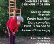 Grup de lectura de poesía: Carles Hac Mor: Obra Completa Punt u i No ben bé
