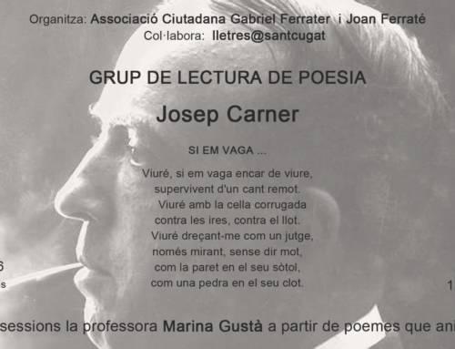 Grup de lectura de poesia – Josep Carner