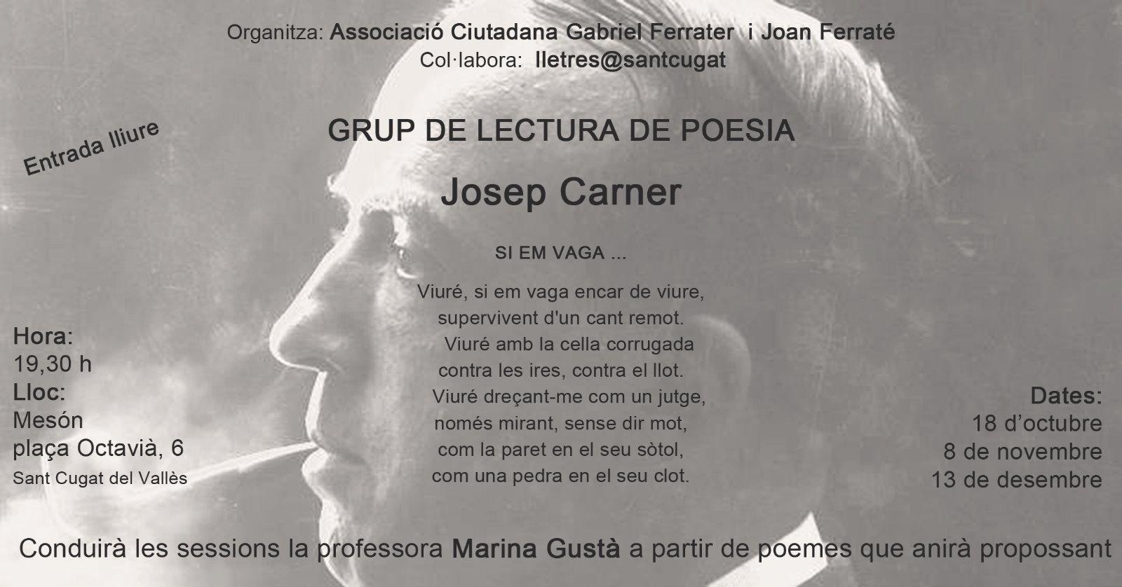 Grup de lectura de poesia: Josep Carner
