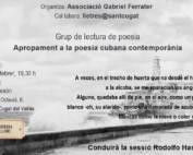Grup de lectura de poesia: Apropament a la poesia cubana contemporània