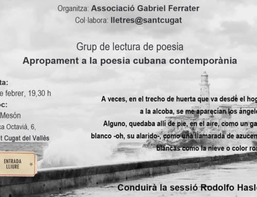 Grup de lectura de poesia – Apropament a la poesia cubana contemporània