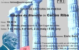 Grup de lectura de poesia: Elegies de Bierville de Carles Riba