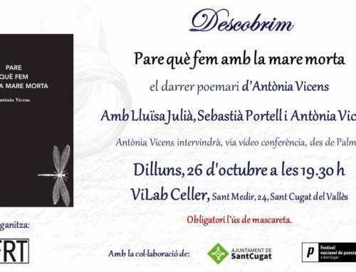 Descobrim… el darrer poemari d'Antònia Vicens
