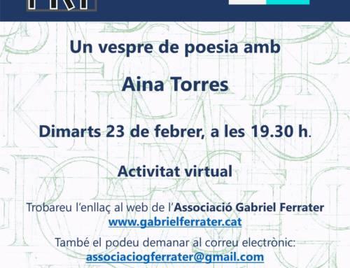 Espai  Poètic amb Aina Torres