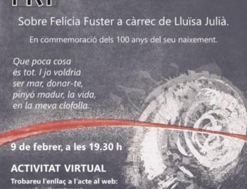 Sobre Felícia Fuster a càrrec de Lluïsa Julià