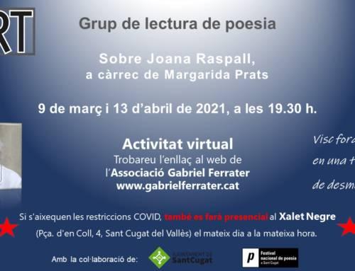 Sobre Joana Raspall, a càrrec de Margarida Prats