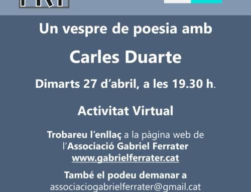 Espai Poètic amb Carles Duarte
