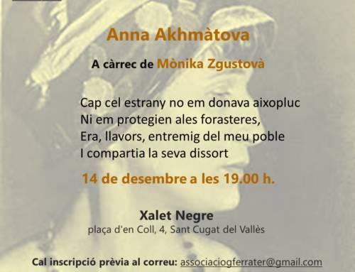 Grup de lectura de poesia / Anna Akhmàtova
