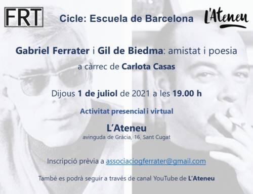 Gabriel Ferrater i Gil de Biedma: amistat i poesia