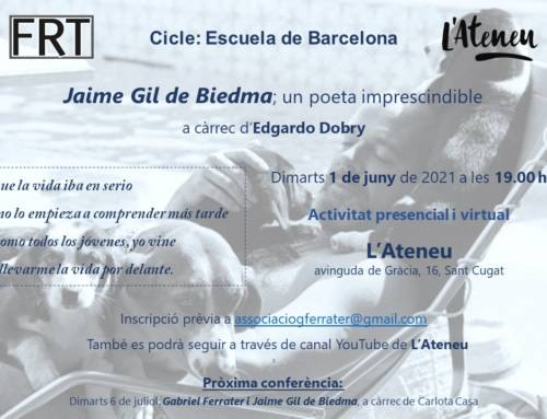 Jaime Gil de Biedma; un poeta imprescindible