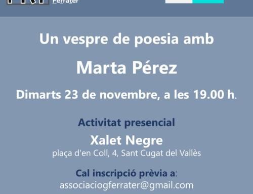 Un vespre de poesia amb Marta Pérez