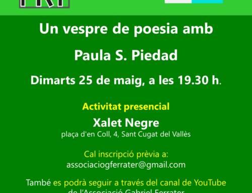 Un vespre de poesia amb Paula S. Piedad